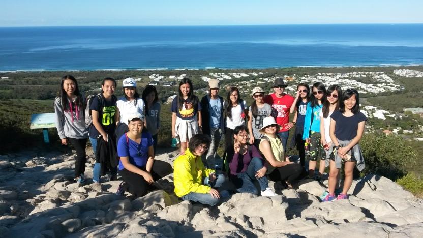 Top of Mt Coolum
